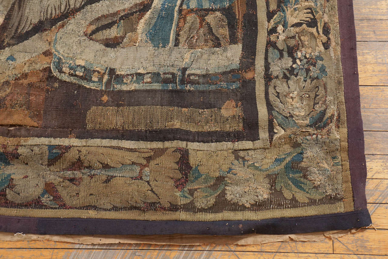 18th Century and Earlier Large Aubusson Tapestry