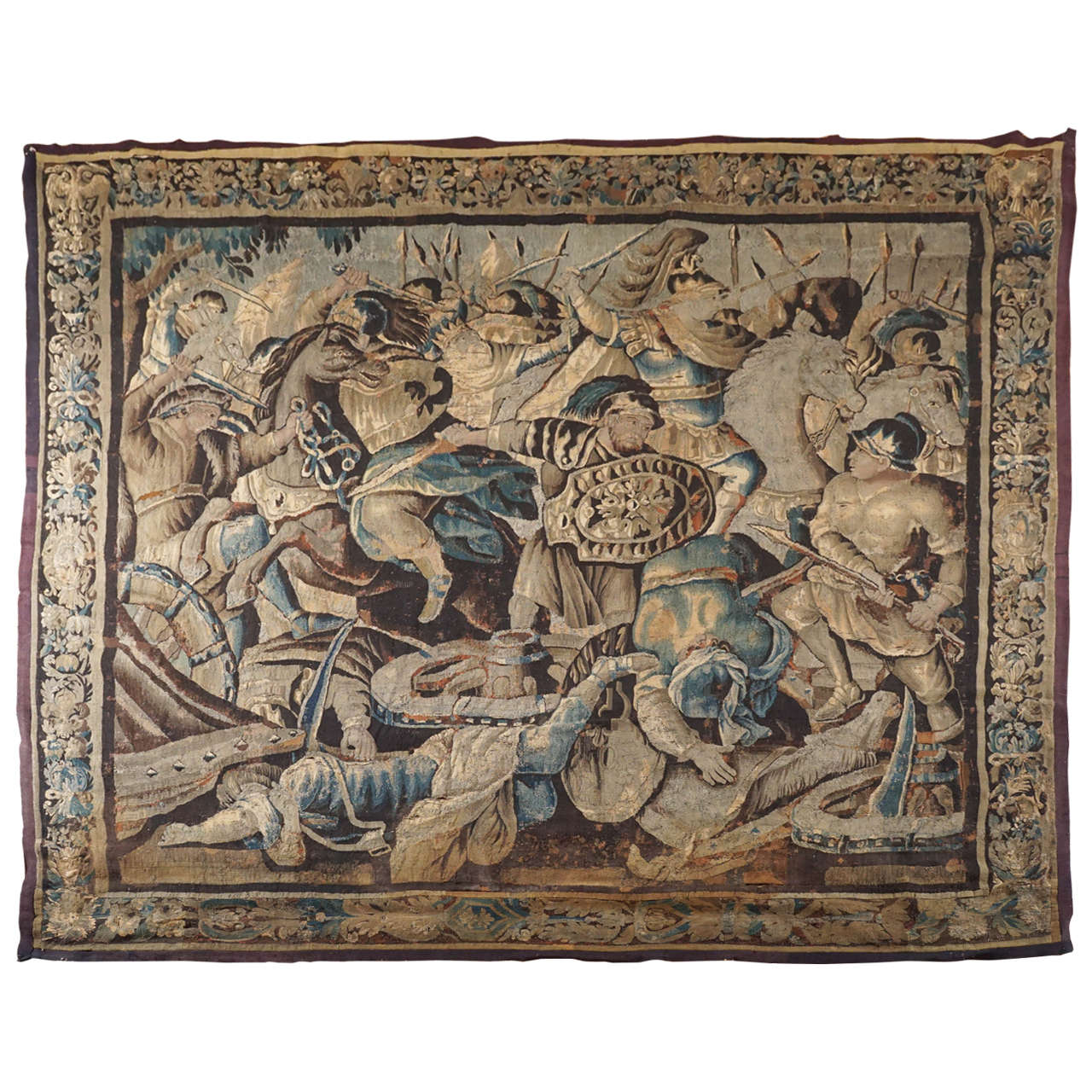 "Large Aubusson Tapestry ""Story of Alexander the Great,"" France, circa 1670 For Sale"