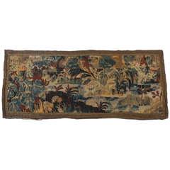 17th Century Flemish Verdure Tapestry Panel
