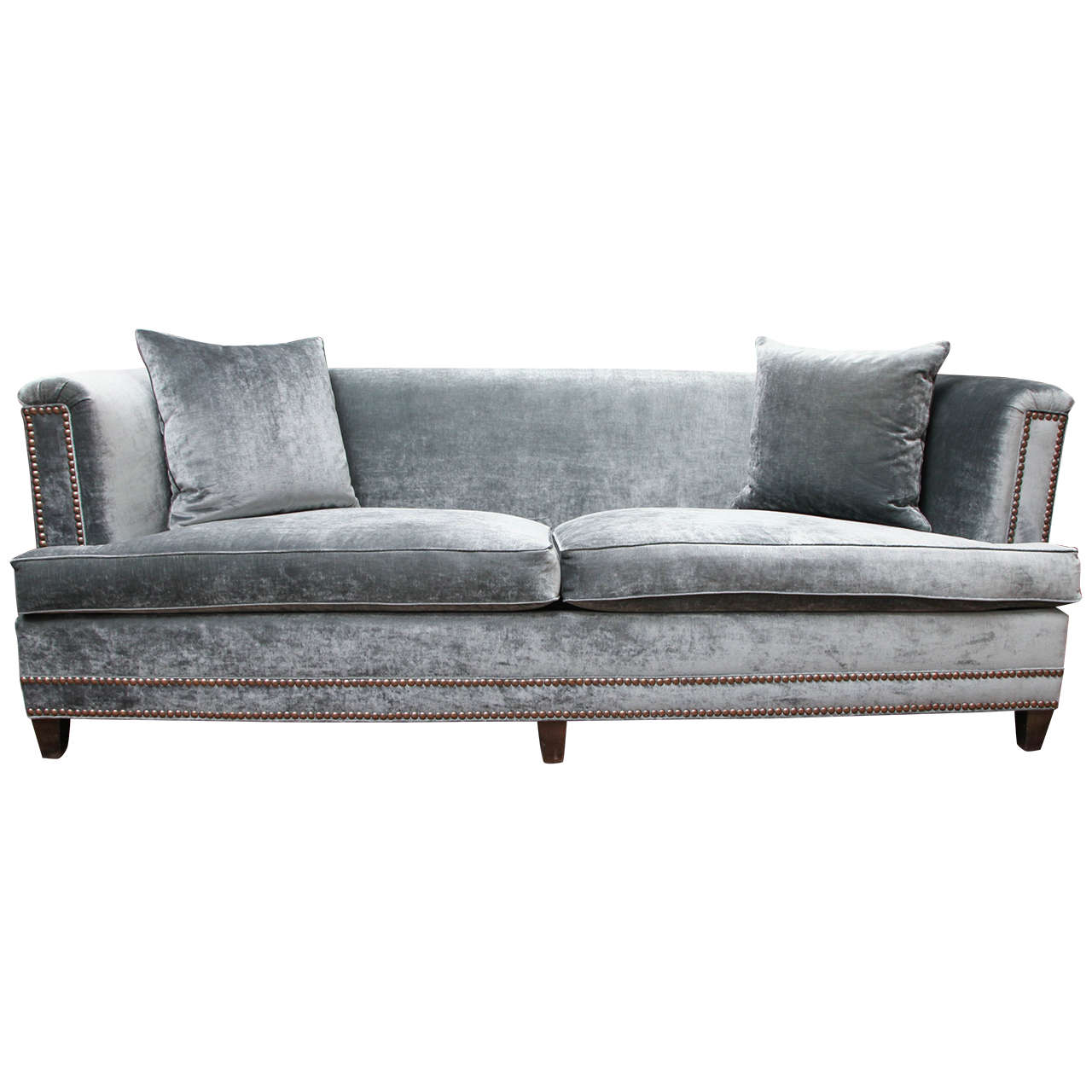 Velvet sofa at 1stdibs for Divan and settee