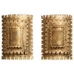 Brass Sconces by Sven Aage