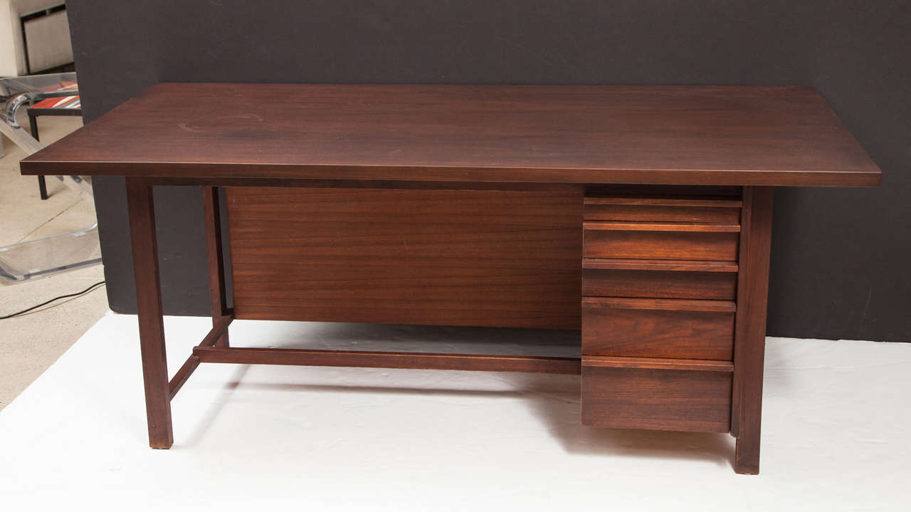New hope craftsman desk in the style of george nakashima for Craftsman style desk plans