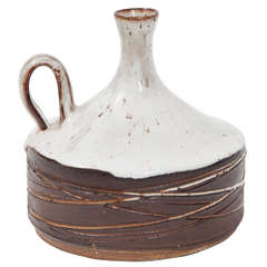 Frans Wildenhain Jug with Handle, Wheel-Thrown Glazed Stoneware, circa 1950s