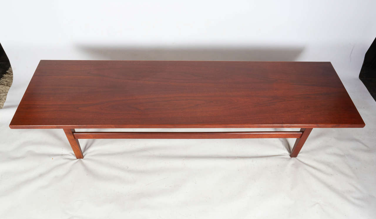 Jens risom floating bench for sale at 1stdibs - Handsome Long Walnut Coffee Table By Jens Risom 3