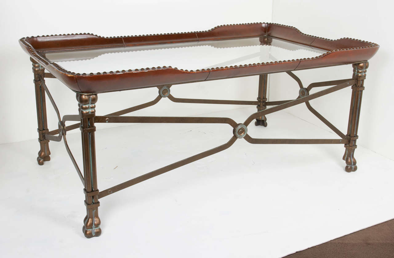 Elegant Campaign Style Cocktail Table At 1stdibs