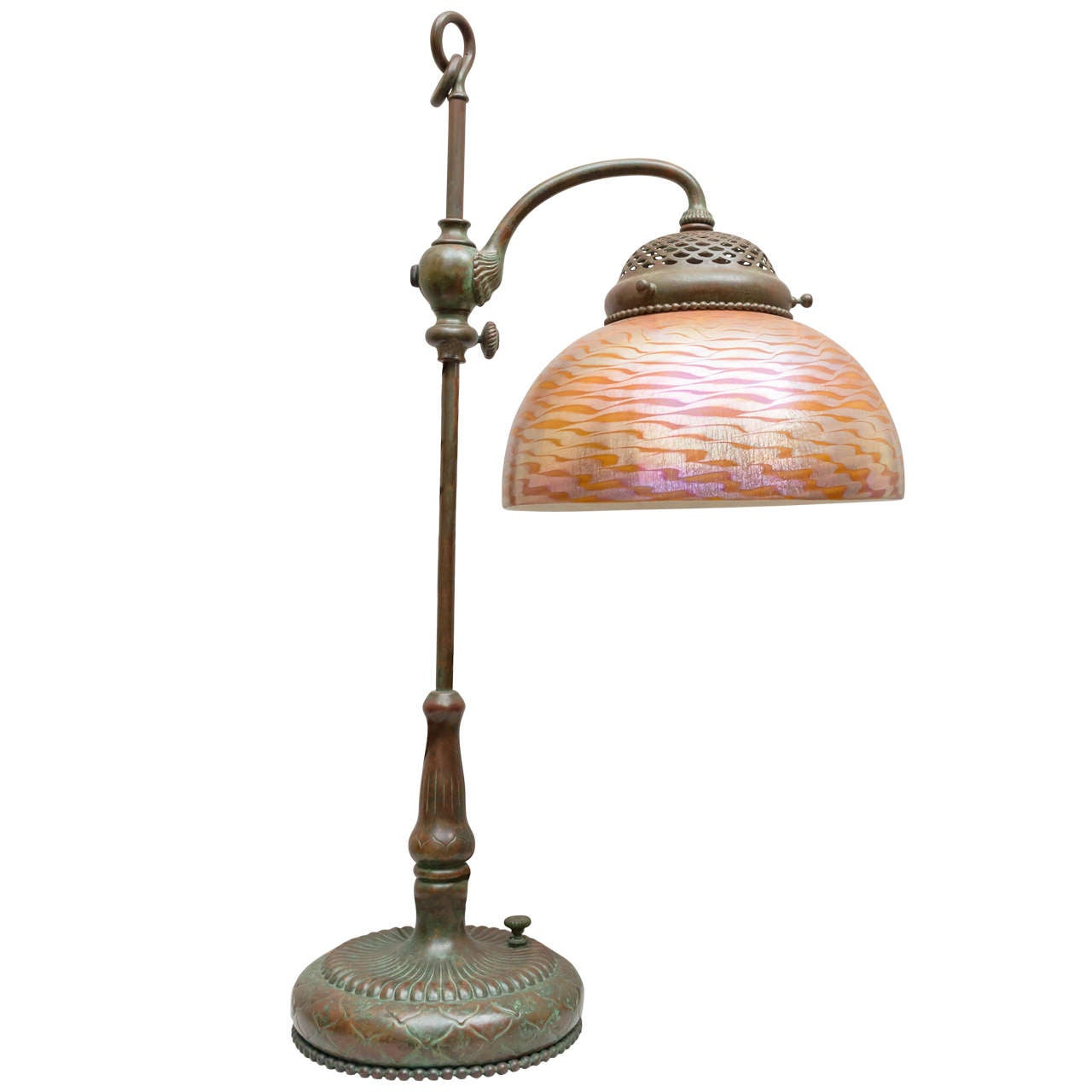 Original Lamps tiffany studios desk lamp with original glass shade at 1stdibs