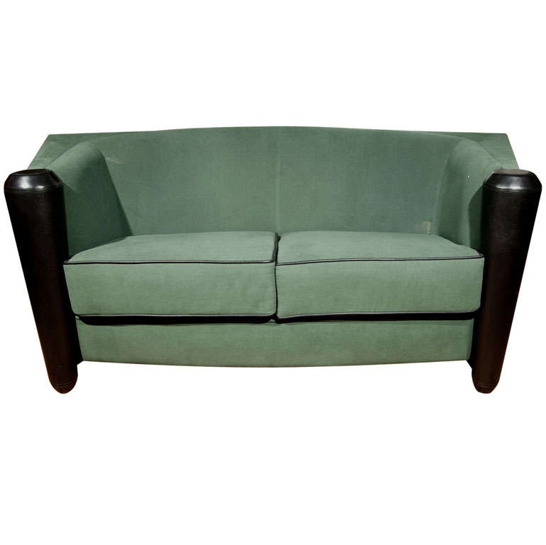 Art deco style sofa by mariani 14 at 1stdibs for Art deco style sofa