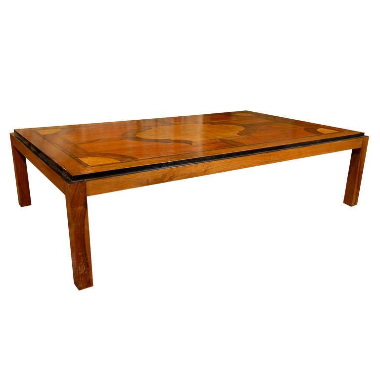 Vintage Parquet Coffee Table 1