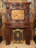 Antique Walnut Mantle image 2