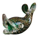 Murano Glass Fish Sculpture.