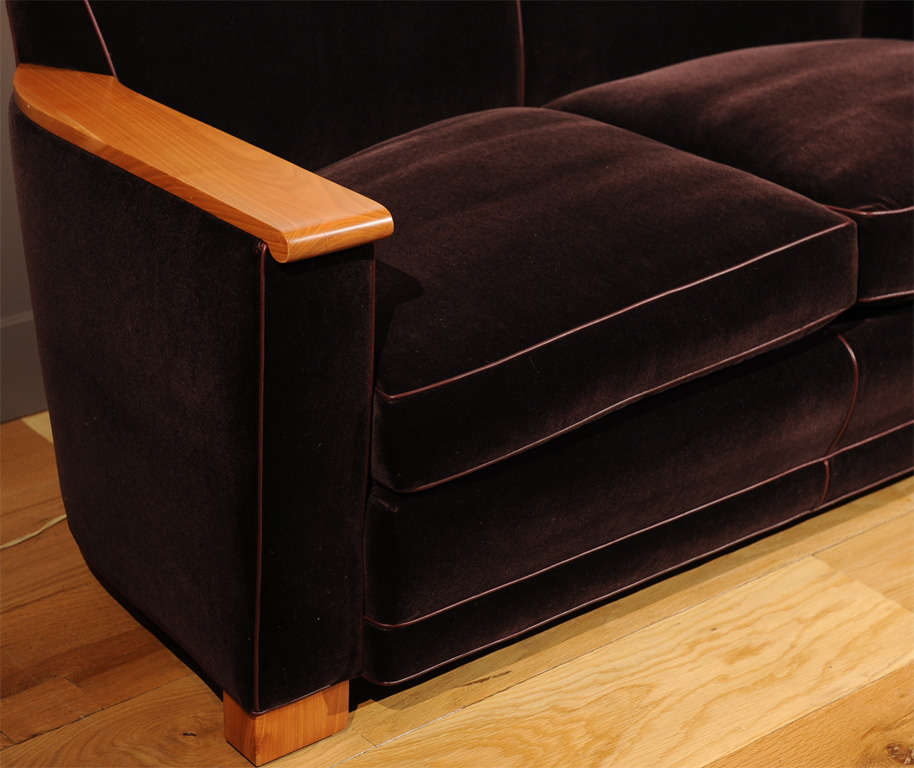 Mid-20th Century Jacques Adnet - Sofa For Sale