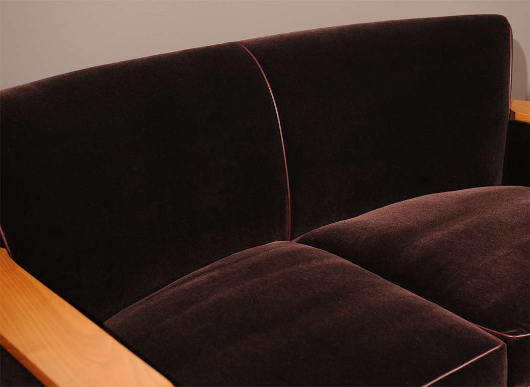 Cherry Jacques Adnet - Sofa For Sale