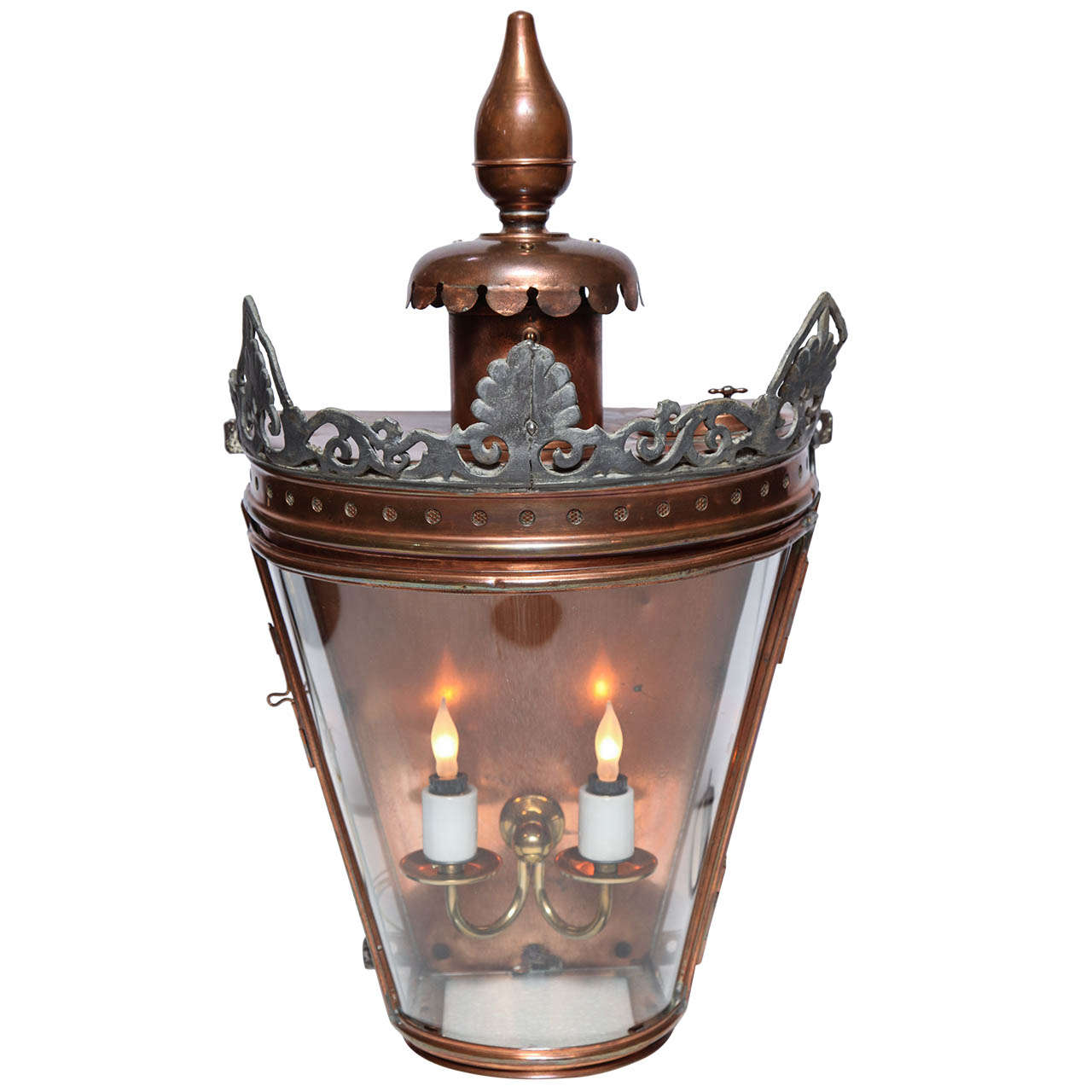 Wall Copper Lantern : Bow Fronted Copper Wall Lantern For Sale at 1stdibs