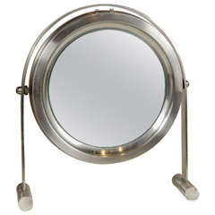 Stainless Steel Mirror on Stand