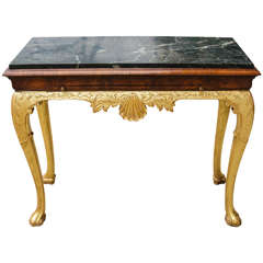 Very Fine 19th Century Queen Anne  Console Table