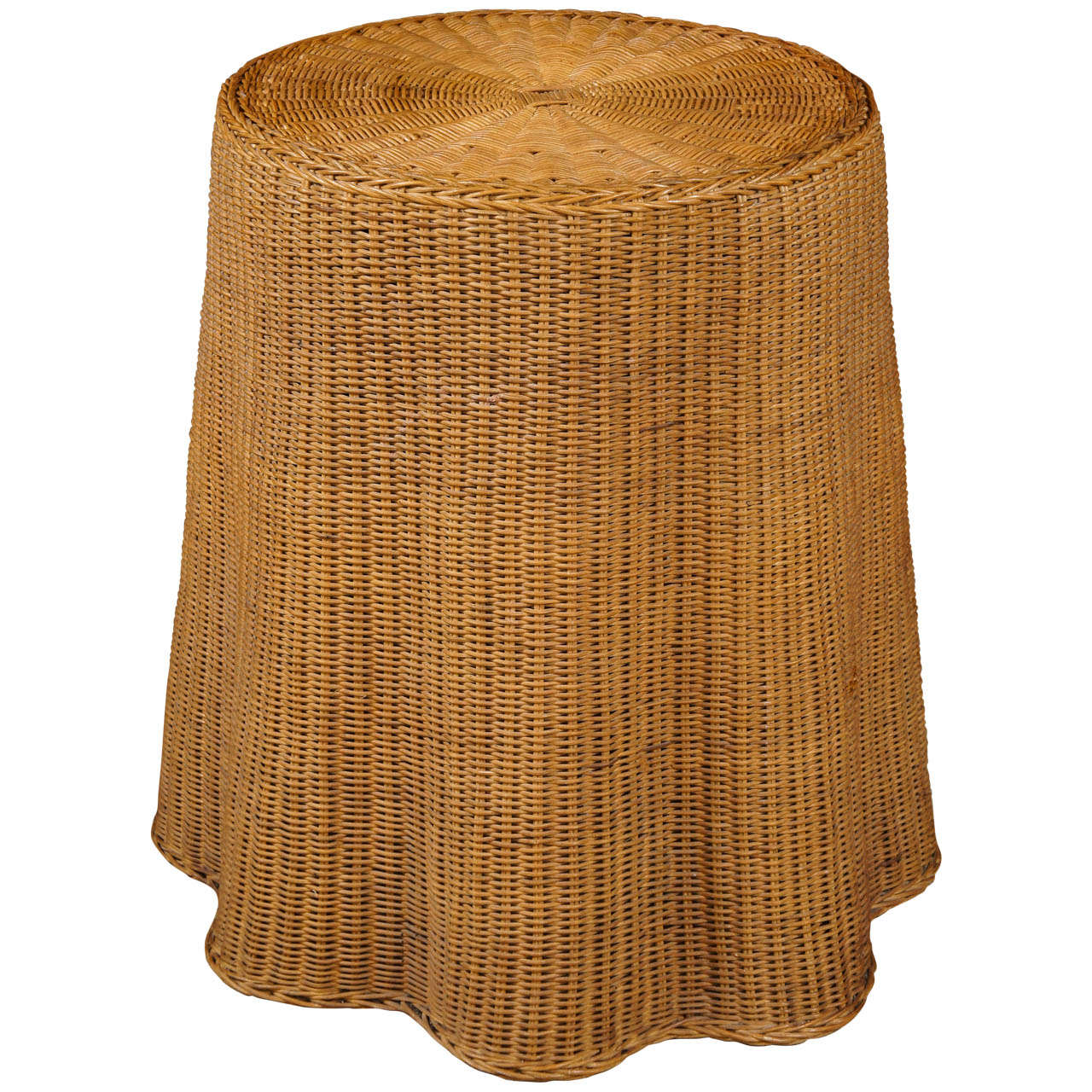 Draped Wicker Side Table 1