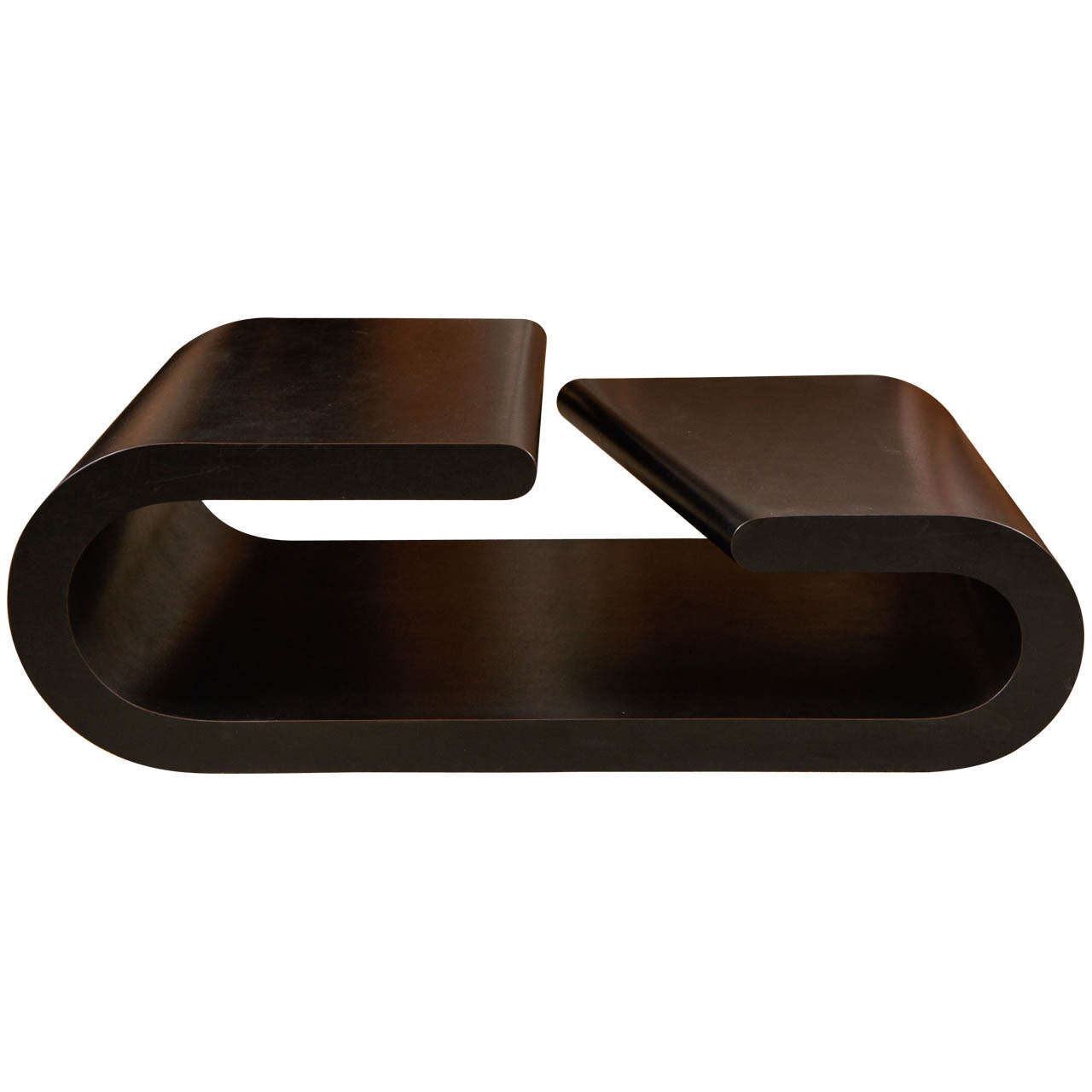 A Chic Black Coffee Table At 1stdibs