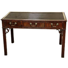 George III Carved Mahogany Rectangular Library Table