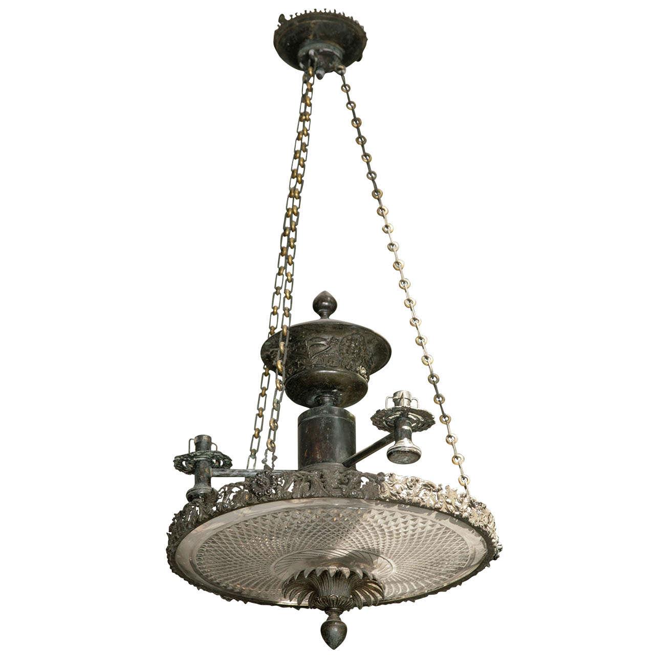 Exceptionally Fine Irish Bronze Colza Oil Lamp At 1stdibs
