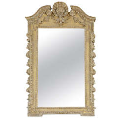Finely Carved and Well-Detailed Giltwood George II Pier Mirror