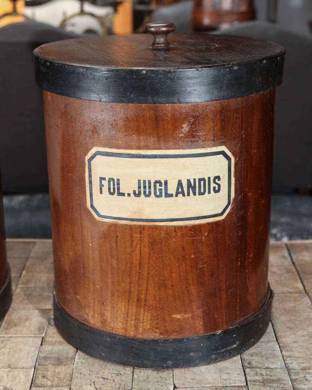 19th Century Herb Canister For Sale