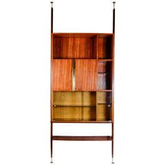 1950s Italian Bookshelf in the Style of Osvaldo Borsani
