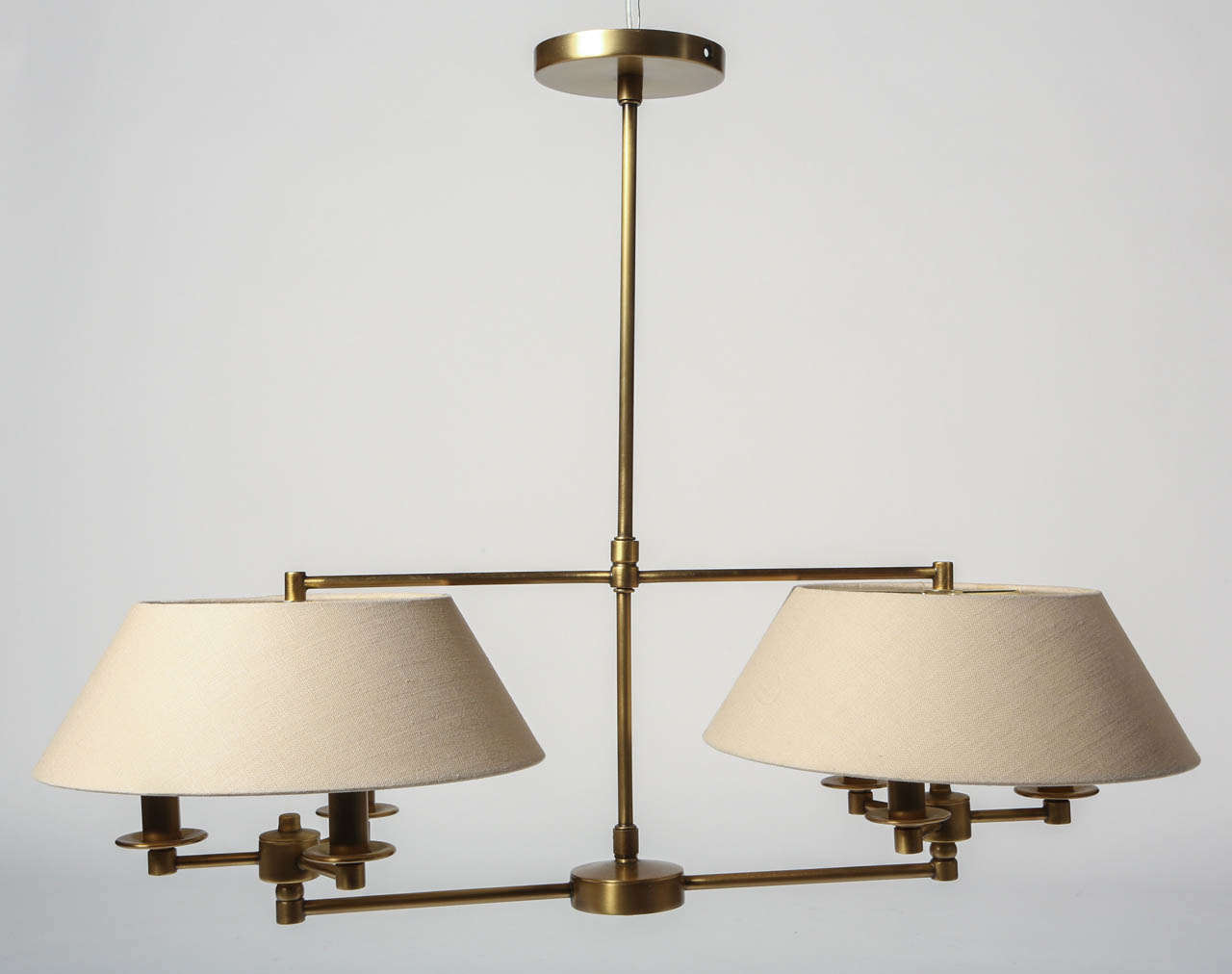 This Handmade Double Arm Pendant Is A Classically Styled Ceiling Light Fixture Finished In Antique
