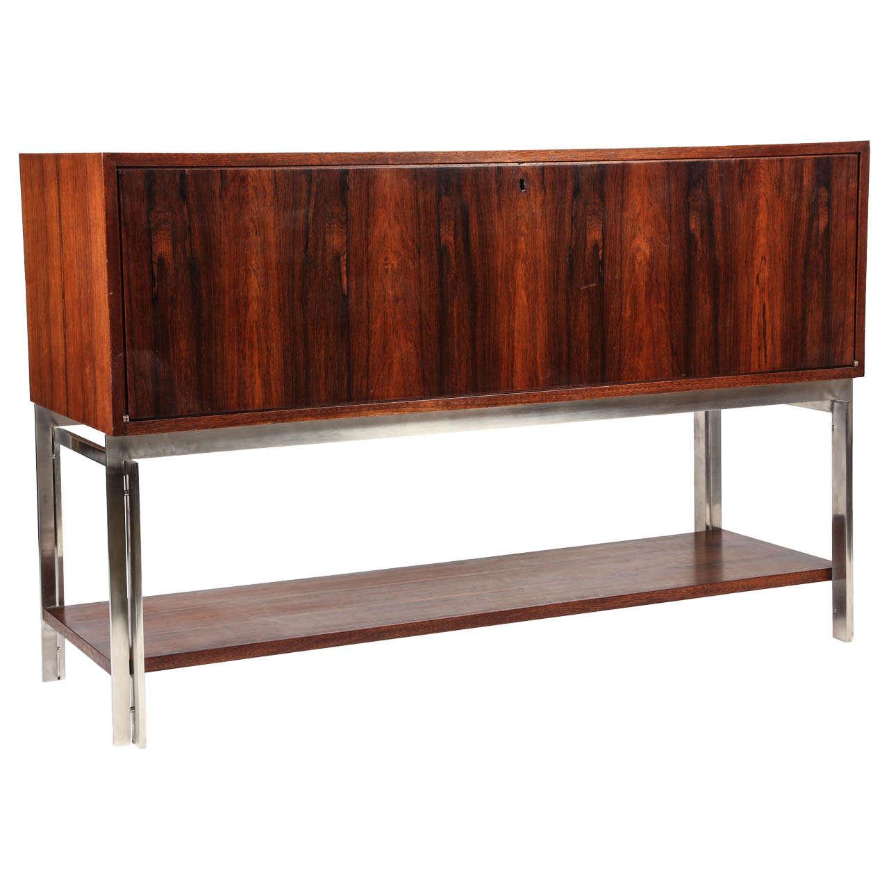 mid century palisander wood sideboard at 1stdibs. Black Bedroom Furniture Sets. Home Design Ideas