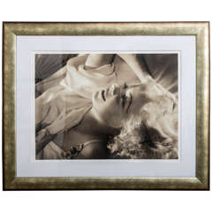 Framed Archival Pigment Print of Jean Harlow, George Hurrell, 1936