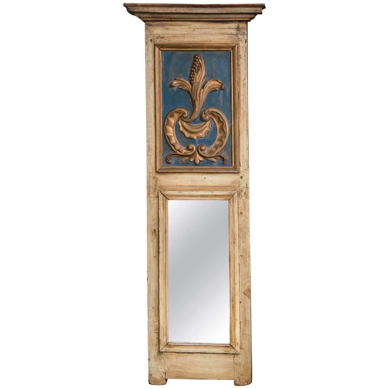 Painted narrow trumeau mirror french circa 1890 at 1stdibs for Narrow mirror