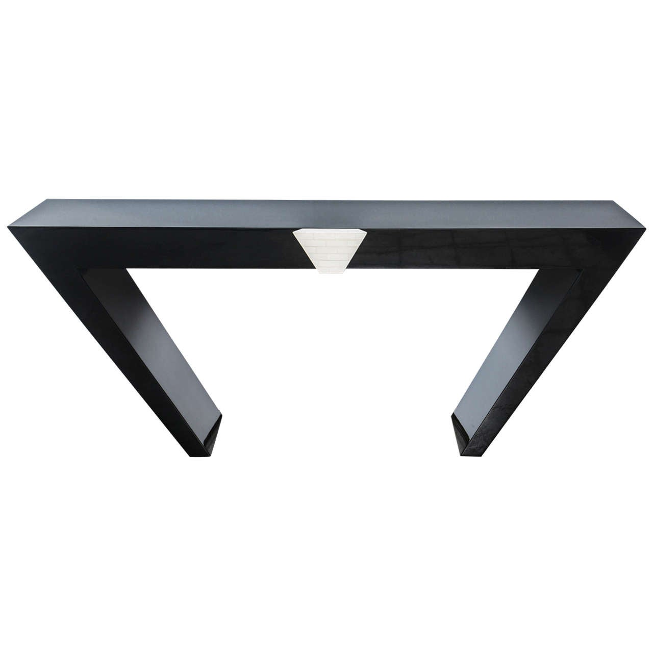 American modern black lacquered and bone console table by maitland american modern black lacquered and bone console table by maitland smith 1 geotapseo Images