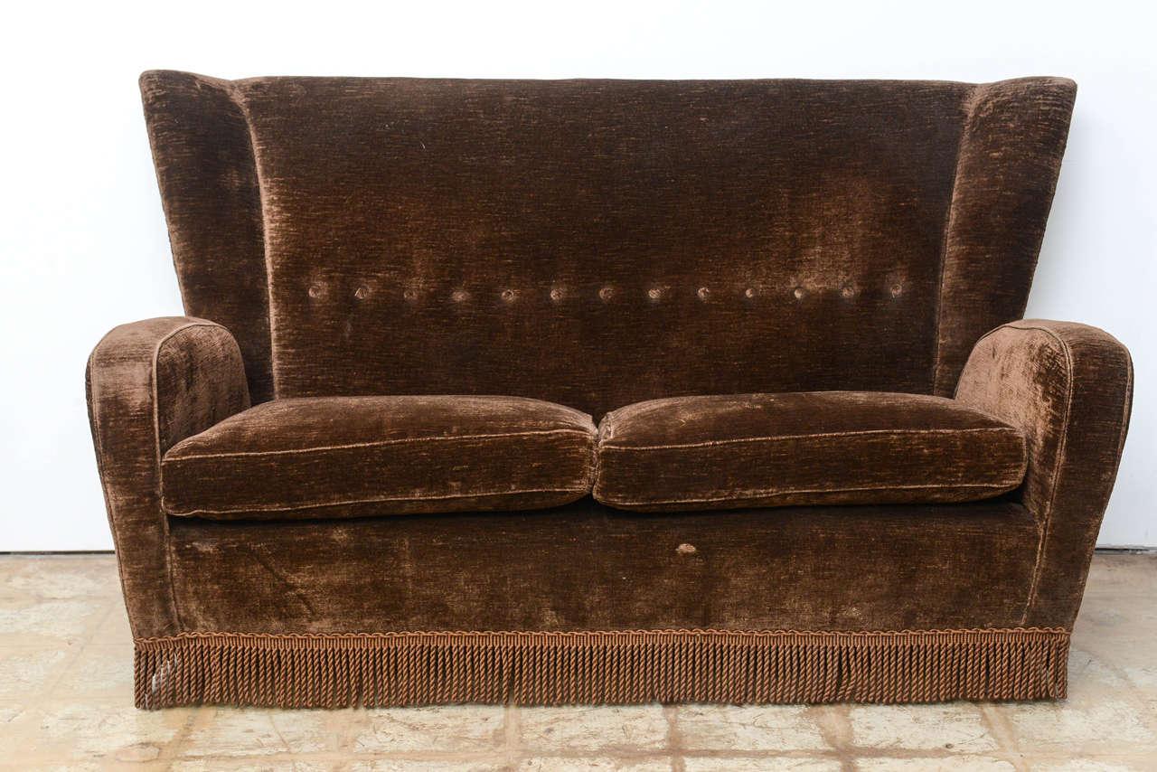 Italian Modern Loveseat Or Sofa By Paolo Buffa From The Hotel Bristol 2