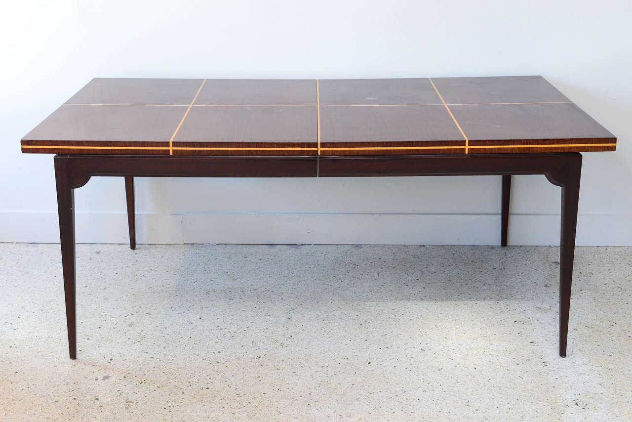 Modern Mahogany and Maple Parquetry Inlaid Dining Table by  : B from www.1stdibs.com size 1280 x 854 jpeg 89kB
