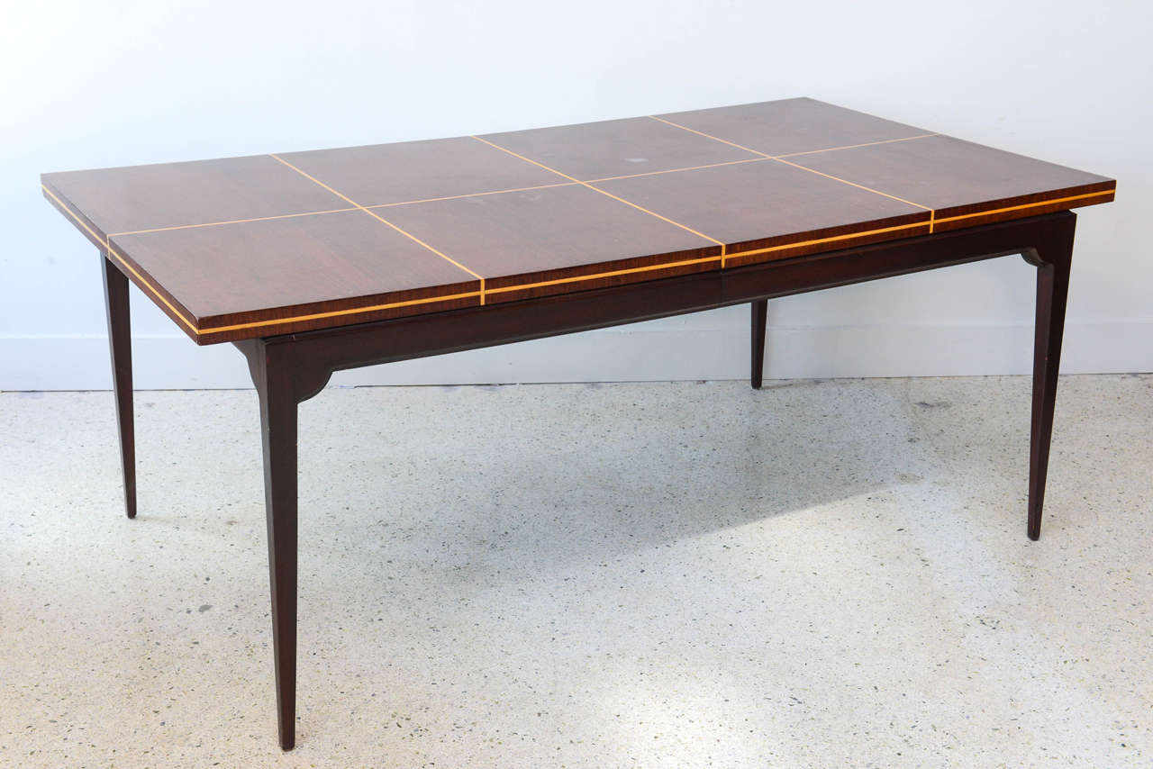Inlaid Dining Table Modern Mahogany And Maple Parquetry Inlaid Dining Table By Tommi