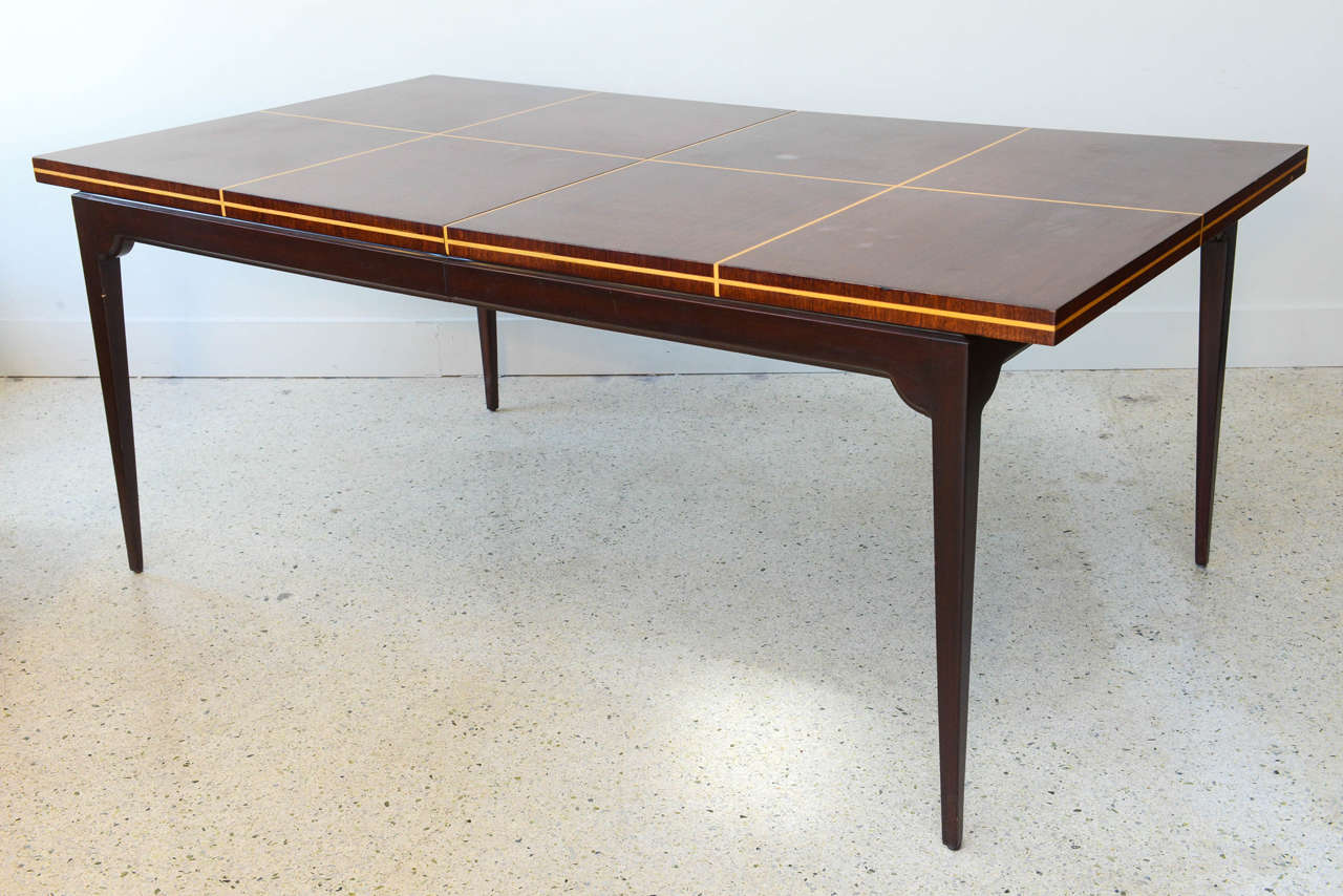 Modern Mahogany and Maple Parquetry Inlaid Dining Table by  : DSC4370 from www.1stdibs.com size 1280 x 854 jpeg 112kB