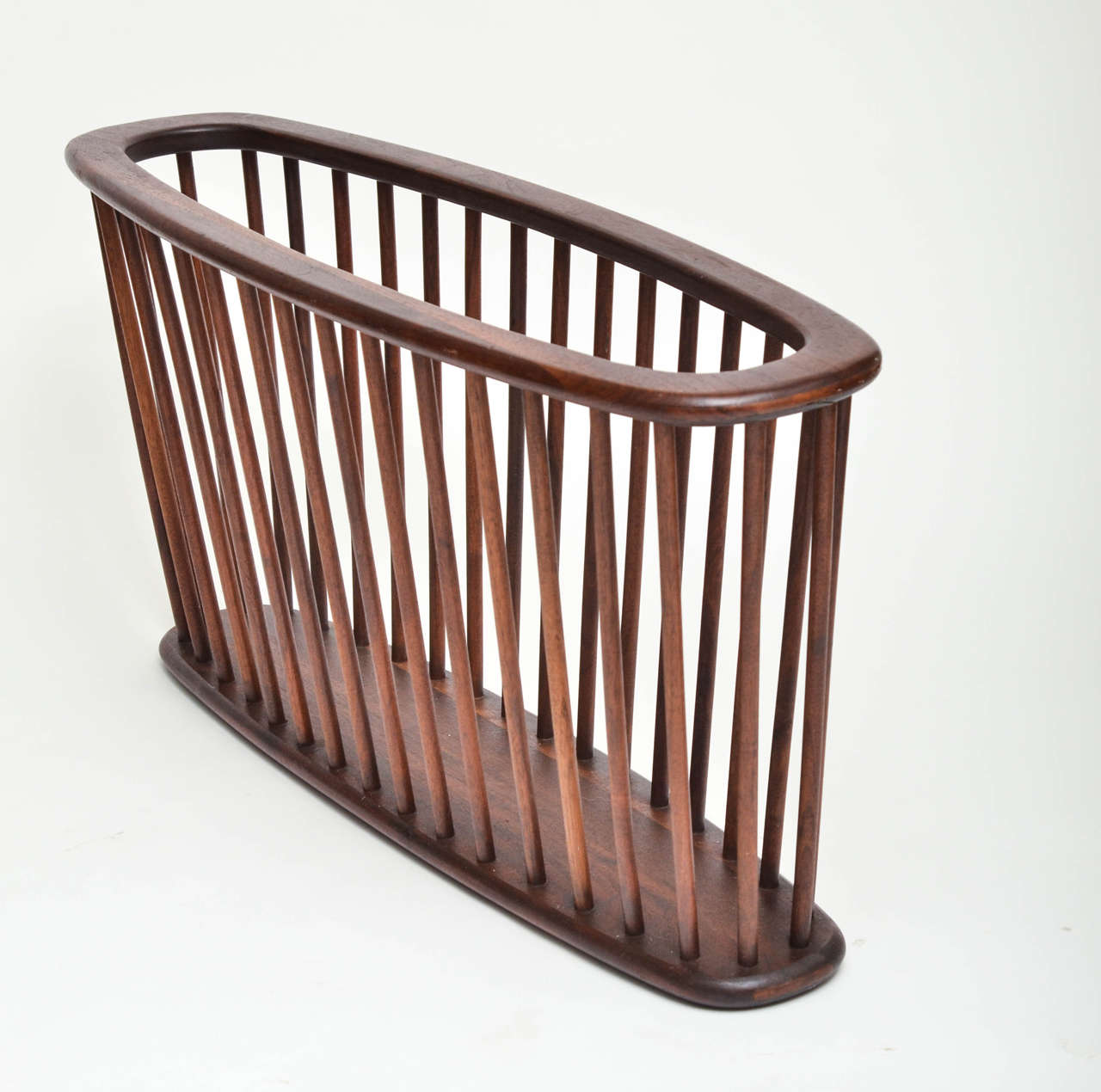 Large Wood Magazine Holder For Sale At 1stdibs. Full resolution  picture, nominally Width 1280 Height 1270 pixels, picture with #8D553E.