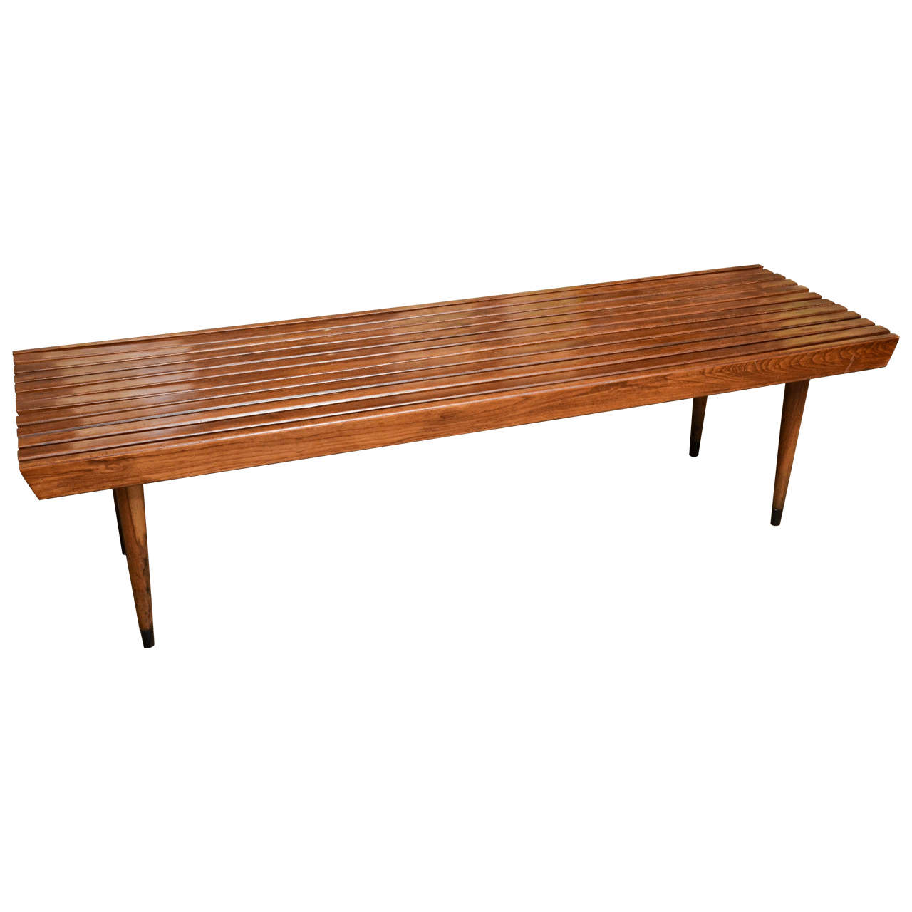 Tapered Coffee Table Legs Wood Slated Bench With Tapered Legs At 1stdibs