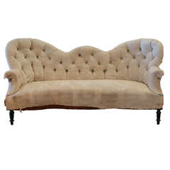 French Tufted Settee , C. 1880
