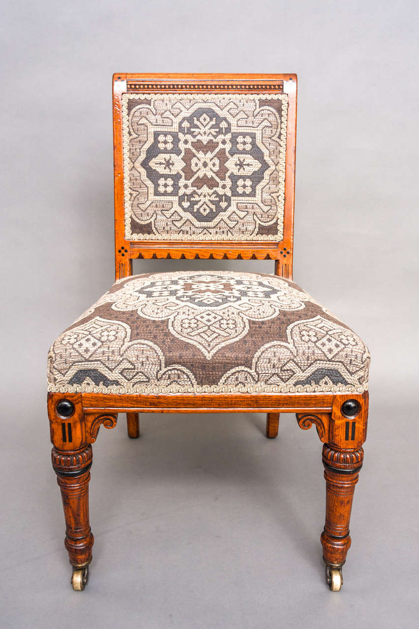 James Lamb set of six Arts and Crafts Dining Chairs ...
