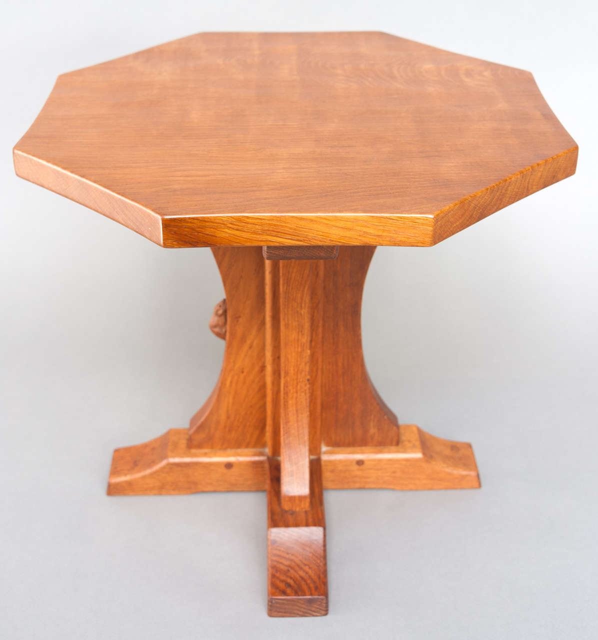 Octagon Side Table ~ An oak octagonal side table by robert quot mouseman thompson