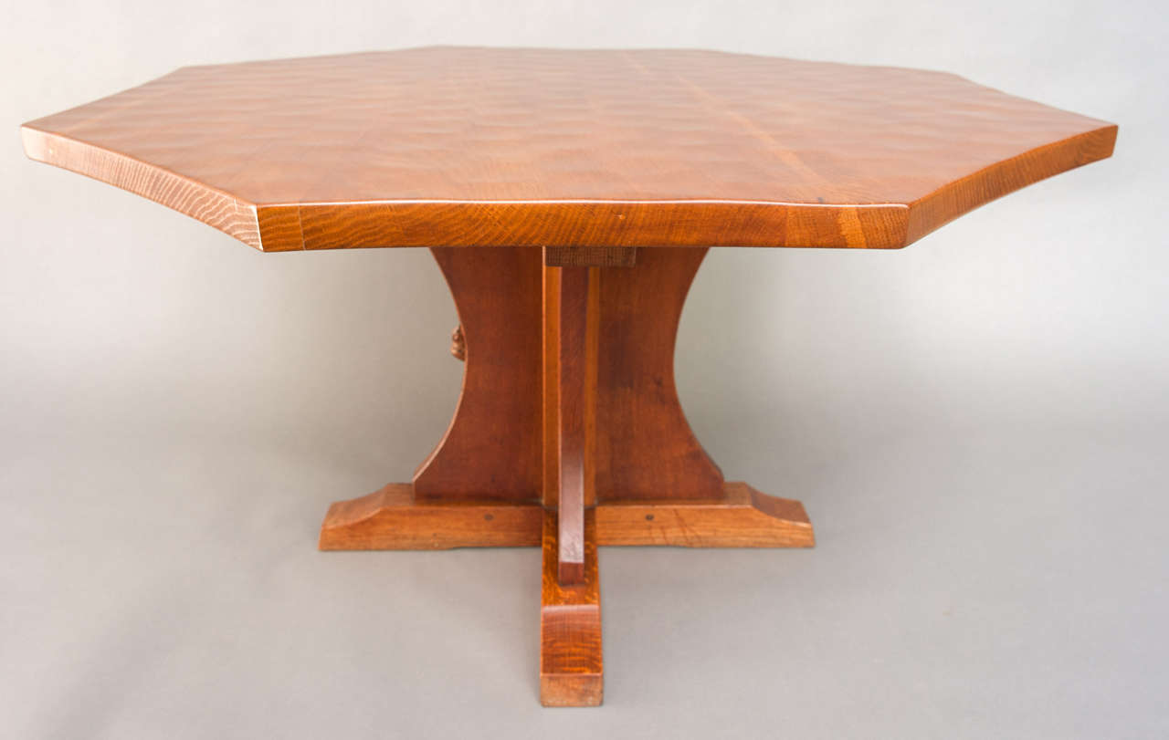 A robert mouseman thompson large octagonal coffee table for Coffee table 40 x 24