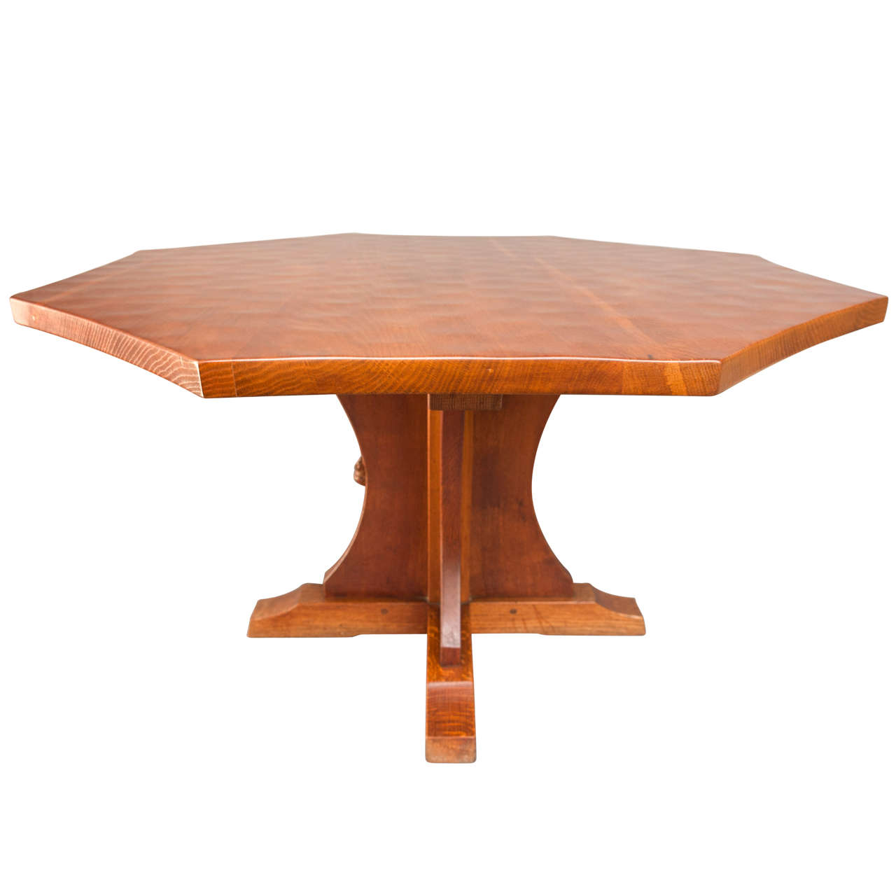 A robert quotmousemanquot thompson large octagonal coffee table for Octagon coffee table