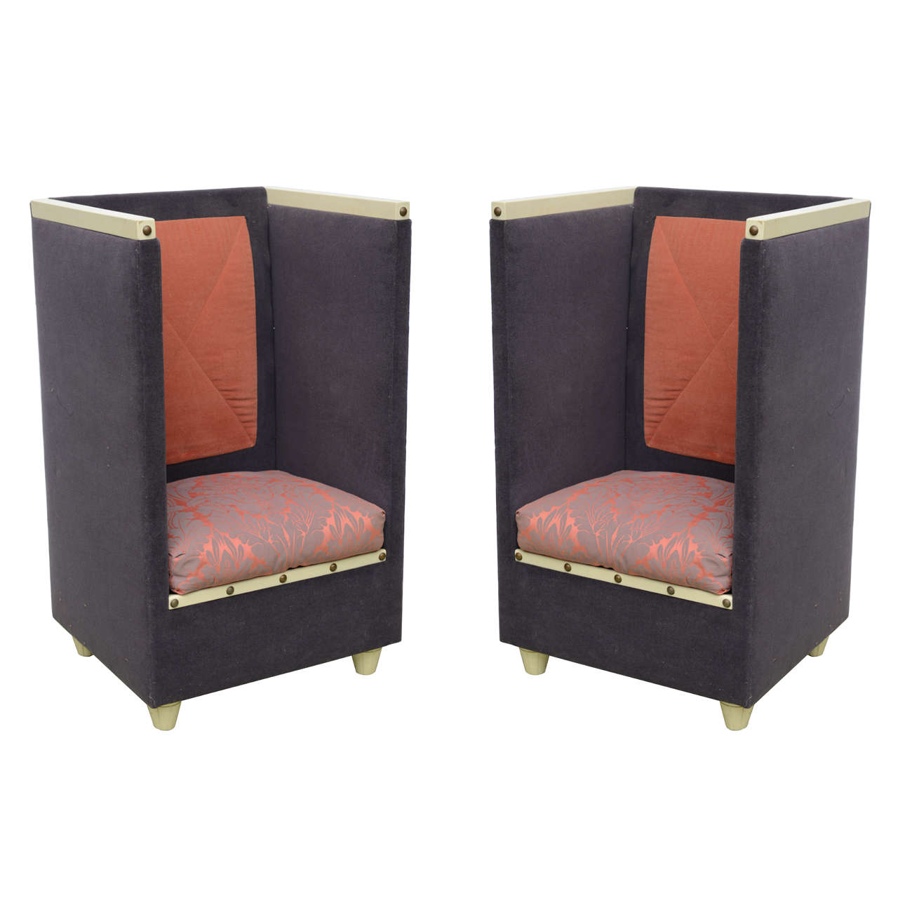 Iconic Modern Furniture Limited Edition Pair Of Iconic Throne Chairs By Noted Artist