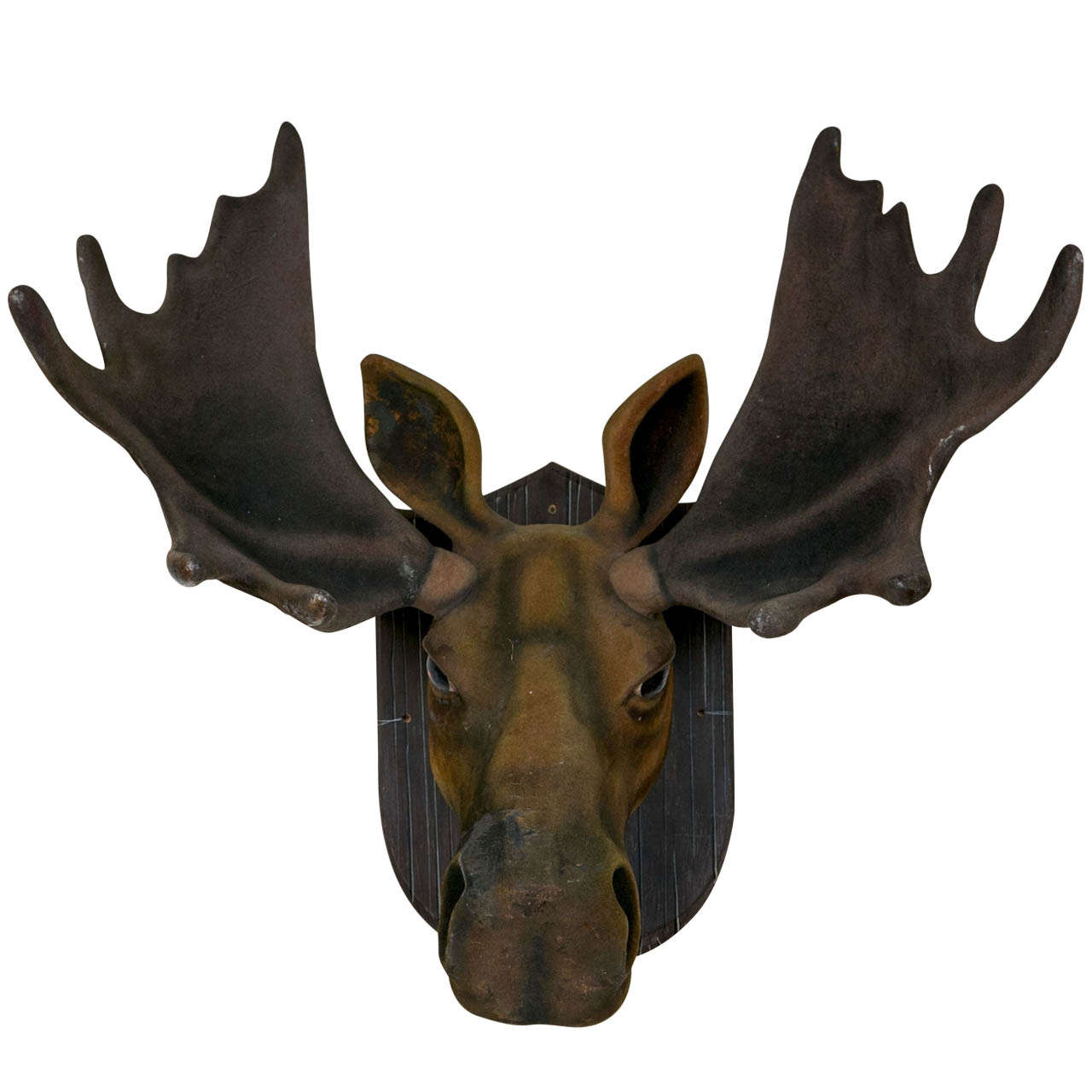 Faux flocked moose head at 1stdibs - Fake moose head mount ...