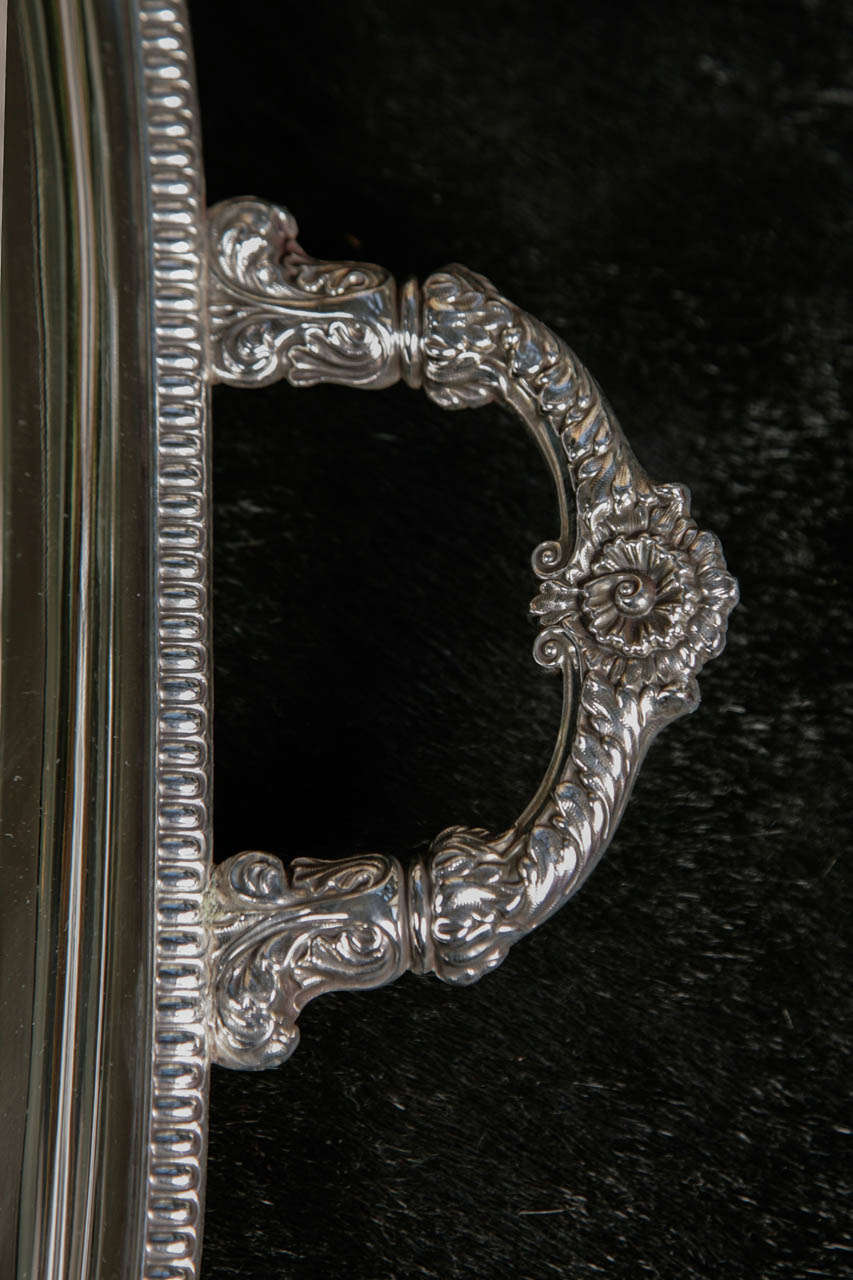 British Silver Plate Server For Sale