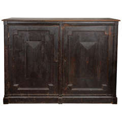 19th Century English Country Manor Linen Cabinet