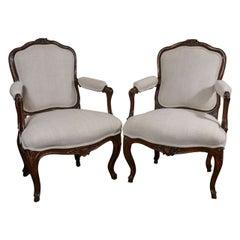 Pair of 18th Century Louis XVI Walnut Chairs