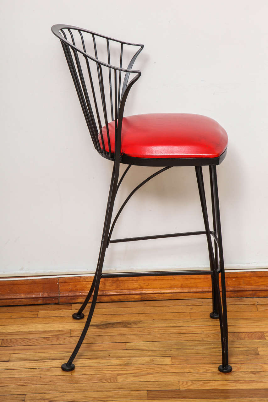 Mid-20th Century Signed Russell Woodard Bar Stools For Sale