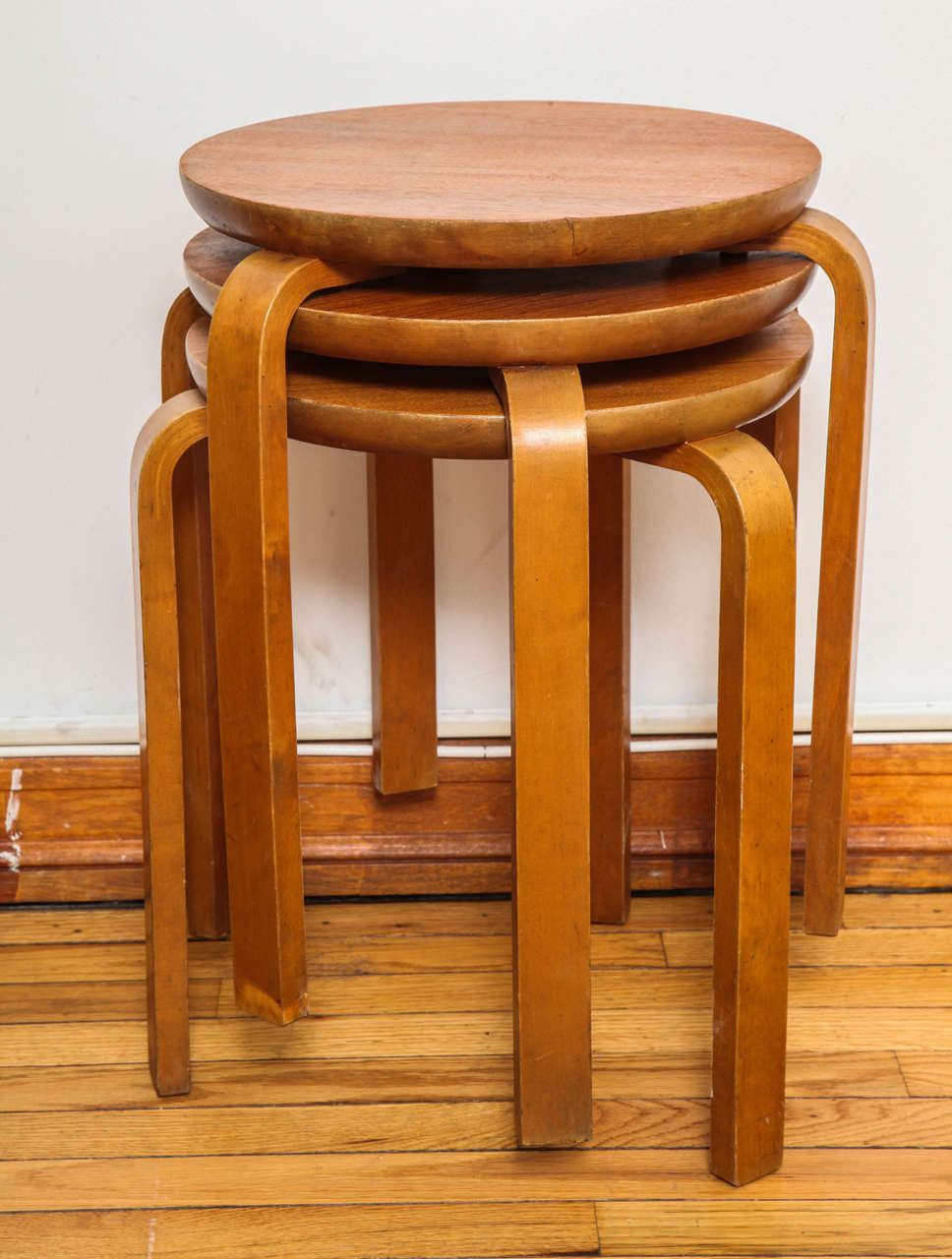 Mid-Century Modern Swedish Stacking Stools For Sale