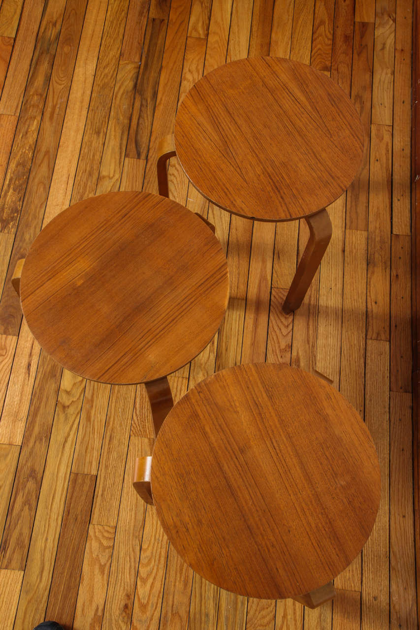 Swedish Stacking Stools In Fair Condition For Sale In Princeton, NJ